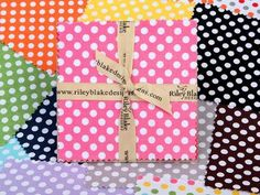 Check out Riley Blake Cotton Dots Small by RBD Designers Charm Pack  on Craftsy! - Shop Craftsy's premiere assortment of quilting supplies and save! Get the Riley Blake Cotton Dots Small by RBD Designers Charm Pack  before it sells out. - via @Craftsy