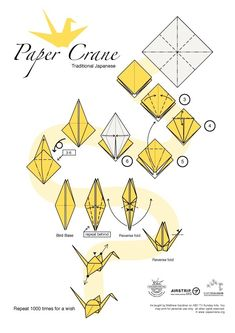 Instructions for a paper crane #0rigami