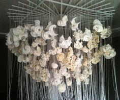 Hyperbolic crochet installation by Daina Taimina