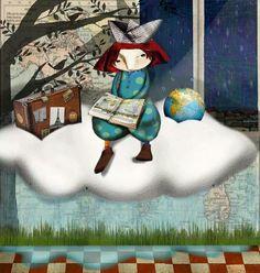 Willing to travel with reading / Dispuestos a viajar con la lectura by Raquel Díaz Reguera