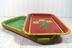 Colorful Crusty Metal Trays Collection  Set of 7  by DivineOrders, $24.00