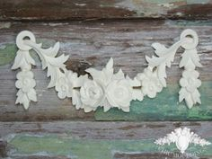 Vintage Floral Swag & Drops Shabby Chic Mouldings Onlay Trim Embellishment Vintage Frame Molding Furniture Fireplace Doors Chest Drawer by ChicMouldings on Etsy https://www.etsy.com/listing/203130266/vintage-floral-swag-drops-shabby-chic
