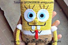 Tutorial SPONGEBOB amigurumi | HOW TO CROCHET SPONGEBOB AMIGURUMI - Part...
