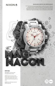 Nixon Watch Ads | Digital Illustration | Photoshop, Illustrator, Cinema 4D | Image 3 of 3