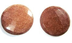 82CTS VERY RARE BROWN SUNSTONE 30mm ROUND FACETED LOOSE GEMSTONE SILVER JEWELRY #GemsAndJewels