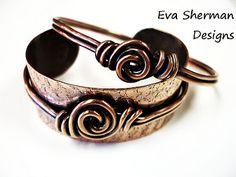 Eva Sherman  - YOJ Week 14 - The Rosette Bangle that Became a Cuff http://evashermandesigns.blogspot.it