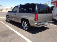 "99 Chevy Tahoe 2 Door Wheel Drive on 22"" Joe Martin Wheels. Rare and collectible."