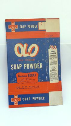 Olo Soap Powder Box - 52 OZs. - Milwaukee, Wisconsin - NOS - Never Filled