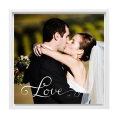 Hand-Lettered Love Canvas Print, White, Single piece, 16 x 16 inches, White