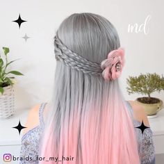 These braids are looking especially good! And the hair. just wonderful! By: # Braids for school mornings BRAIDED HAIRSTYLES Gothic Hairstyles, Work Hairstyles, Braided Hairstyles, Hairdos, Long Thin Hair, Braids For Long Hair, Lolita Hair, Hair Upstyles, Hair Videos