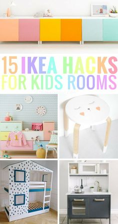 Are you looking for cheap ways to update your kids bedroom or kids playroom? This list of 15 adorable kids ikea hacks is here to help you! Find the best storage ideas, closets, bookshelves, tables, beds and more. This post includes ikea hacks for boy Ikea Hack Kids Bedroom, Ikea Playroom, Ikea Bedroom, Bedroom Storage, Closet Storage, Bedroom Ideas, Bedroom Hacks, Playroom Storage, Bedroom Girls