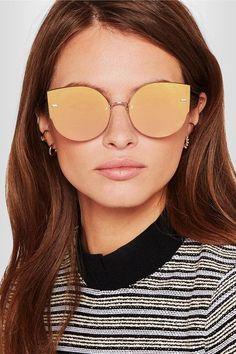 Walker Cat-eye Glittered Acetate And Gold-tone Sunglasses - Charcoal Alice & Olivia nNzTYDQlOs