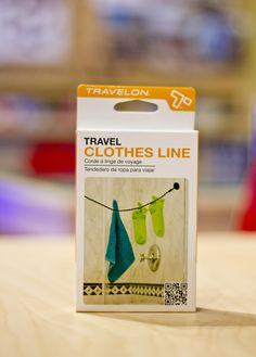 """Corde à Linge.  -Corde élastique et """"tortillée"""" qui s'utilise sans épingles, genial...!"""