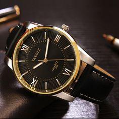 YAZOLE 348 Luxury Business Men Wrist Watch Fashion Leather Male Quartz Watch at…