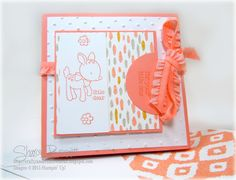 Stampin Up Amazing Fold Card.  When opened, its pops out.  Supply list and You Tube Instructional Video  on my blog @ http://craftyandcreativeideas.blogspot.com/2015/07/amazing-fold-card-baby-card.html The YouTube Video can be found @ https://youtu.be/yAnzp_6vpA8.  Baby Cards, Fancy Fold Cards, Folded Cards,  Sharon Bennett ,Made With Love Stamp Set ,Stampin Up Folded Cards, You Tube Video