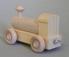 Wooden Toy Train, Wooden Toy Trucks, Wood Craft Patterns, Wooden Pattern, Woodworking Toys, Woodworking Workshop, Scrap Wood Projects, Steam Locomotive, Brio