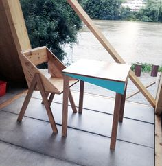 Maybe the chair with pallet wood