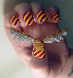 My Golden Snitch nails :)