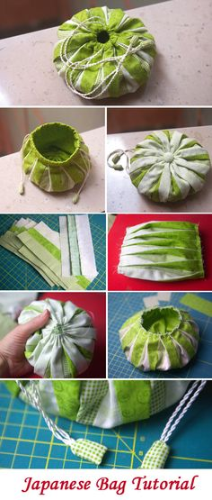 Japanese Omiyage Bag Tutorial. DIY Craft Idea   http://www.free-tutorial.net/2017/01/japanese-omiyage-bag-tutorial.html