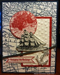 Stampin' Up The Open Sea, World Map, Itty Bitty Banners