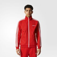 Introduced in 1967, the Beckenbauer was the first adidas track suit to feature the 3-Stripes. This men's track jacket revives that classic silhouette with a slim fit and the iconic stand-up collar. 3-Stripes down the sleeves and an embroidered linear Trefoil logo on the chest finish the authentic look.