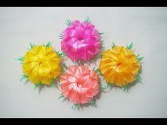 พับเหรียญโปรยทาน ดอกดาวเรือง (Marigold) - YouTube