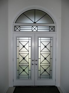 Wrought Iron Glass Insert Using Our Century Model Installed In Newmarket Ontario
