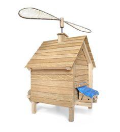 flying cabin  |  TOM FRENCKEN  |  made of oak, linen, steel and plastic.