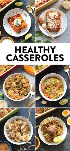 Look for a hearty casserole packed full of veggies + protein + whole grains? Make one of these delicious healthy casseroles at any time of the year! They're perfect for the entire family or for meal prep.