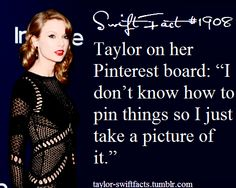 Don't know if true.. because I still don't know if she really does have pinterest account!
