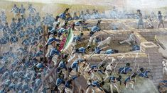 Mexican troops takes the Alamo Mexican Army, Mexican American War, American History, Texas Revolution, San Antonio Missions, Hand To Hand Combat, Western Comics, War Comics, American Frontier