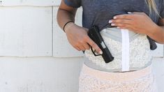 """"""" Our line of concealed carry holsters was built upon this belief. Concealed Carry Women, Concealed Carry Holsters, Carry On, Corset, Lace Skirt, Comfy, Chic, Awesome, Pretty"""