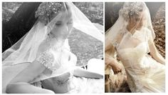 How this veil is draped over the headpiece
