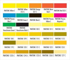 Sample Pms Color Chart Pantone Color Chart Sample   Documents In Word, PDF