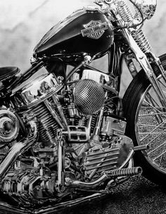 6 Joyous Hacks: Harley Davidson Cafe Racer Schools harley davidson tattoos for dad.Harley Davidson Garage Home. Harley Panhead, Harley Bikes, Harley Motorcycles, Custom Choppers, Custom Harleys, Custom Bikes, Custom Baggers, Custom Cycles, Choppers Personalizadas