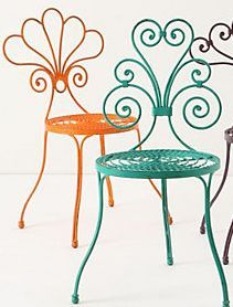 The LeVersha chairs, designed for Anthropologie, and available again direct from David's workshops in England.
