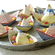 Paper wishboats for special moments. You can sent them as a postcard. Jurianne Matter Wishboats