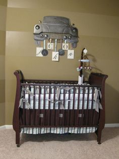 Vintage Car Baby Room...if I ever was to have a baby boy this is pretty darn cute!