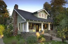 1911 Craftsman Bungalow is located in the Historic Garfield Heights district. Craftsman Bungalow Exterior, Bungalow Homes, Bungalow House Plans, Bungalow House Design, Craftsman Style Homes, Craftsman Bungalows, Cottage Homes, Craftsman Kitchen, Craftsman Farmhouse