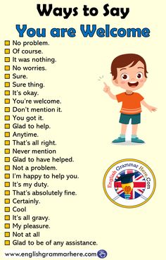 English Ways to Say You are Welcome - English Grammar Here