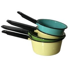Enamel Cooking Pans Vintage Camping Set Of 4 By Nachokitty