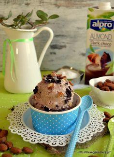 Νηστίσιμο παγωτό σοκολάτα καρύδα