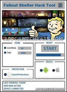 Fallout Shelter Hack & Cheats for Free Caps & Lunchbox's - http://appgamecheats.com/fallout-shelter-hack-cheats-for-free-lunchbox-caps/