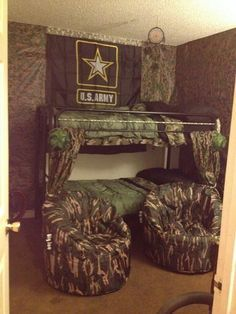 32 The Best Army Bedroom Ideas For Boy, Your boy is currently a Teenager, soon to be a guy. The boys should not masturbate but to be morally clean so that they can represent the church acros. Military Bedroom, Army Bedroom, Kids Bedroom, Hunting Bedroom, Camo Bedroom Boys, Camo Room Decor, Camo Rooms, Boys Army Room, Boy Room