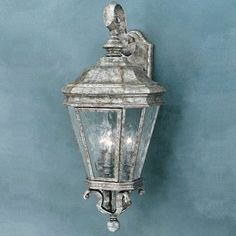 Thomas Lighting M523066 3 Light Astoria Outdoor Sconce by Thomas Lighting. $102.76. Lamp Type: Candelabra. Finish: Silver Slate. Finish:Silver Slate, Light Bulb:(3)60w B10 Cand F Incand Three-light die-cast Aluminum outdoor wall fixture accented by attractive scroll work and water seedy glass panels.Photocell included.. Save 72%!