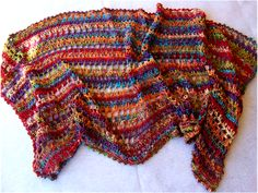 Lacy crocheted shawl pattern