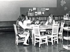 Kids in the Carnegie Library
