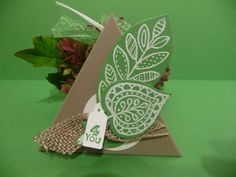 Kleine Geschenkbox,Gastgeschenk,Tischkarte von Schönes aus Stempel und Papier auf DaWanda.com