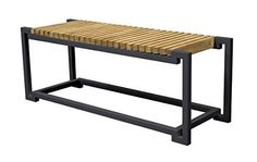 Asta Furniture M203Blk Asta Teak and Iron Backless Bench  Bombay Black ** You can find more details by visiting the image link.(This is an Amazon affiliate link)