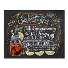 Sweet Tea Recipe - Print #Gifts #Kitchen #New